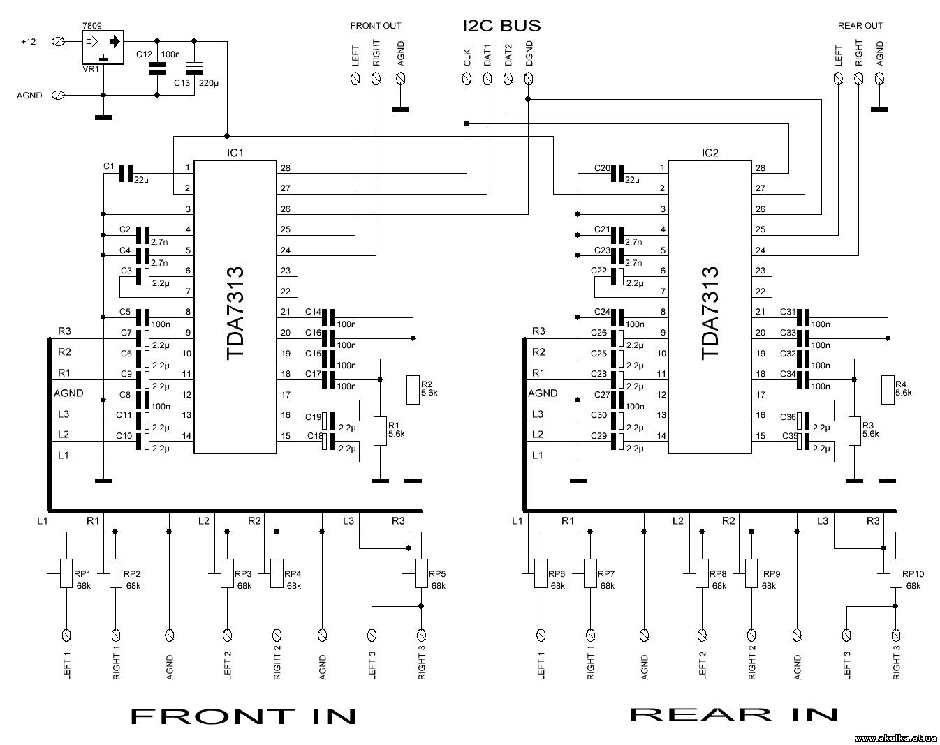 Схема подключения аудиопроцессора для авто